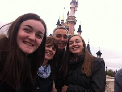 Bruce family selfie at Disneyland!