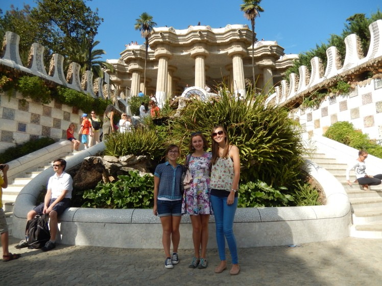Parc Guell in the sunshine!